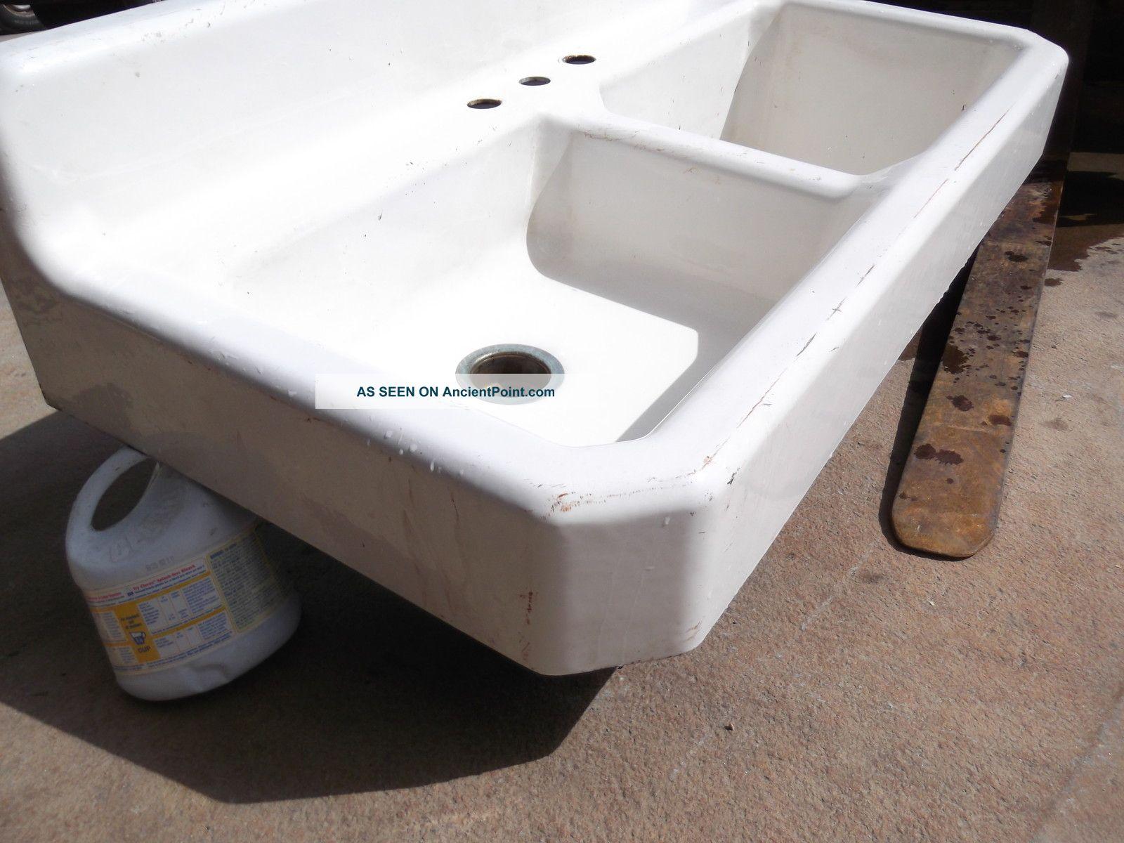 vintage american standard cast iron 2 bay sink w