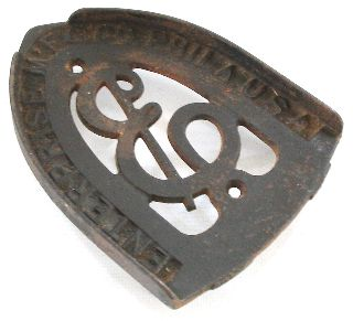 Enterprise Mfg.  Co.  Phila.  Pa Antique Cast Iron Trivet,  Patina photo