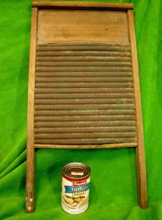 Antique Washboard Brass & Wood Primitive Collectible photo