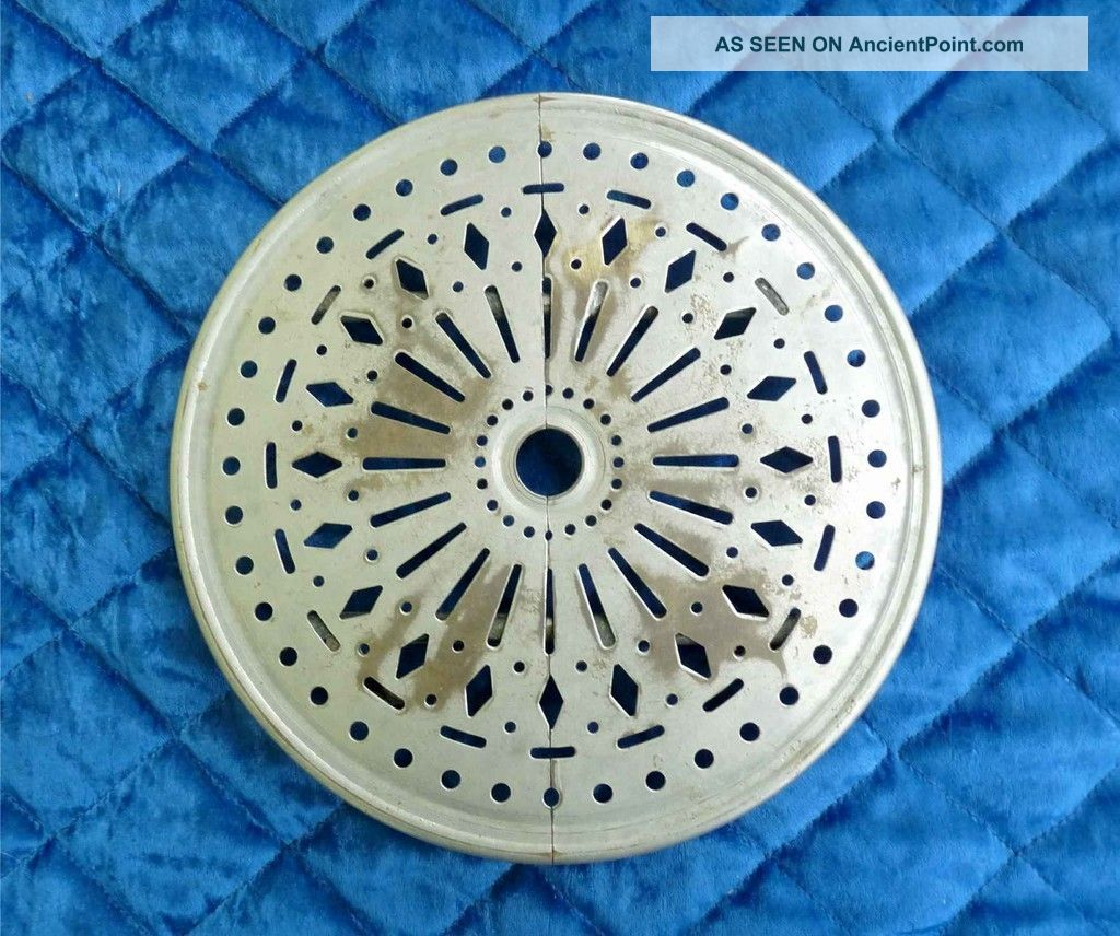 Vintage Rare French Brass Plated Extensible Telescopic Trivet Wheels Fine Cuts Trivets photo