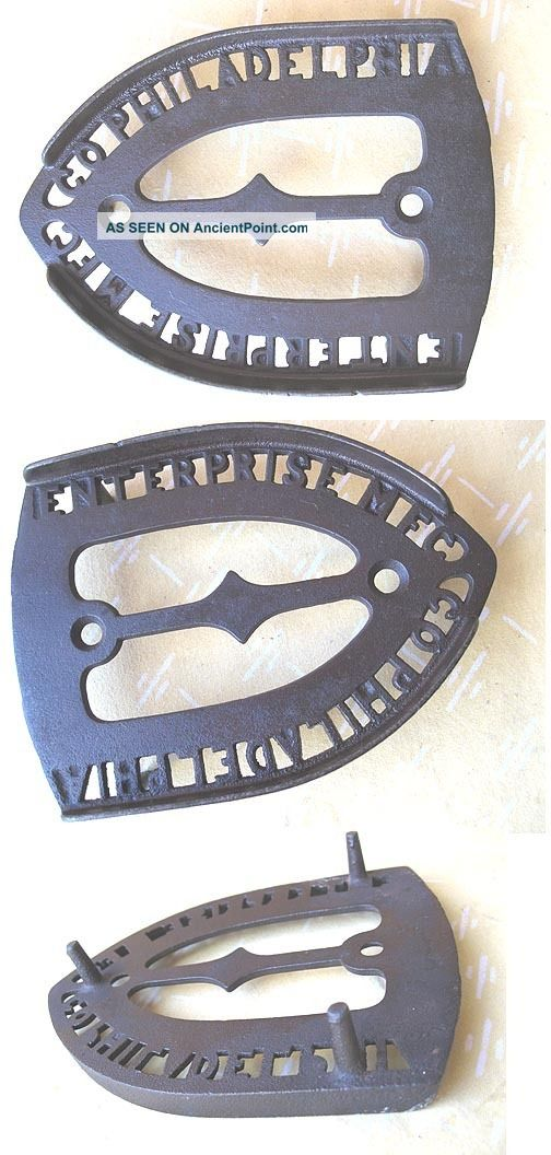 Vintage Enterprise Cast Iron Trivet,  Pierced Letters Trivets photo