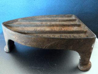 Antique Cast Iron Koenig Gas Sad Iron Footed Trivet Door Stopper Tailor photo