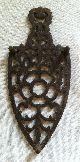 Vintage Wilton Cast Iron Trivet (sad Clothes Iron Shape Wire Flower Design) Trivets photo 4