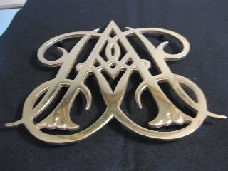 Virginia Metalcrafter Colonial Williamsburg Queen Ann Cypher Cw1010 Brass Trivet photo