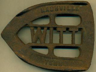 Witt Flat Iron Rest,  Trivet,  Cast Iron,  Nashville,  Tn,  C.  1890s - 1910s photo