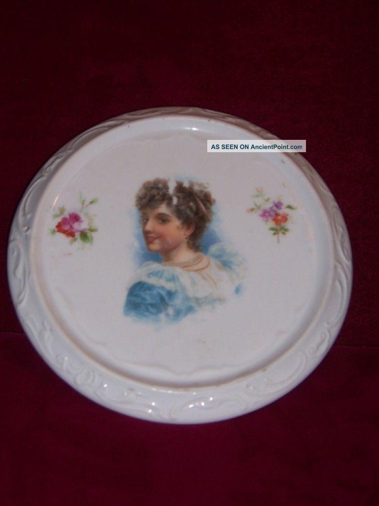 Porcelain Trivet Round Victorian Era Trivets photo