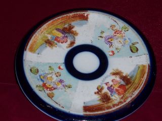 Porcelain Trivet Round Victorian Era photo