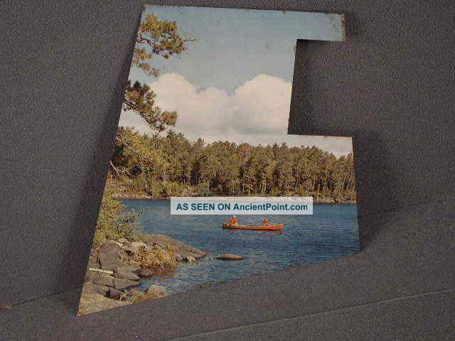 Backplate For Hamms Beer Bar Light Or Clock,  Sky Blue Waters With Canoe Trivets photo