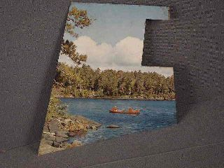 Backplate For Hamms Beer Bar Light Or Clock,  Sky Blue Waters With Canoe photo