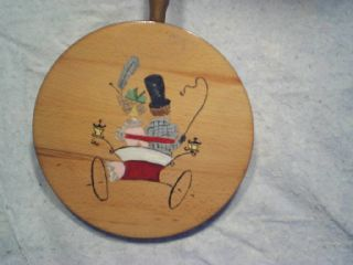 Wooden Trivet Norcrest Japan Automobile,  Car,  Man,  Woman photo