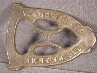 Sad Iron Trivet By Wh Howell Co. ,  Geneva,  Ill,  Vg Condition photo