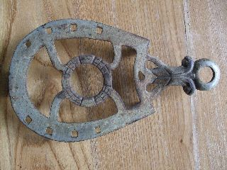 Antique Cast Iron Trivet Sad Horse Shoe Vintage Vtg Primitive Rustic Country photo