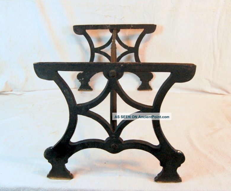 Early 19th Century Iron Hearth Trivet,  24 X 15 X 13.  5h. Trivets photo