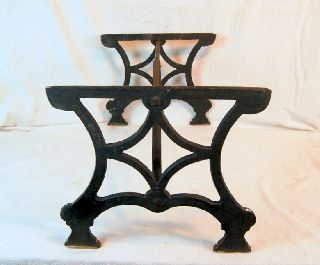 Early 19th Century Iron Hearth Trivet,  24 X 15 X 13.  5h. photo