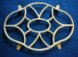 Art Deco Trivet French Aluminum 1930 Keeps Hot Cool photo