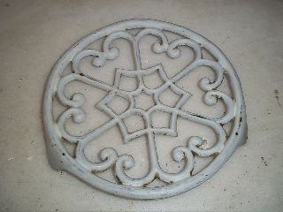 Xxx French Antique Cast Iron Trivet Xxx photo