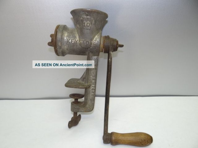 Antique Made In Usa Keystone 10 C.  I.  Co Bovertown 24 Metal Kitchen Meat Grinder Meat Grinders photo