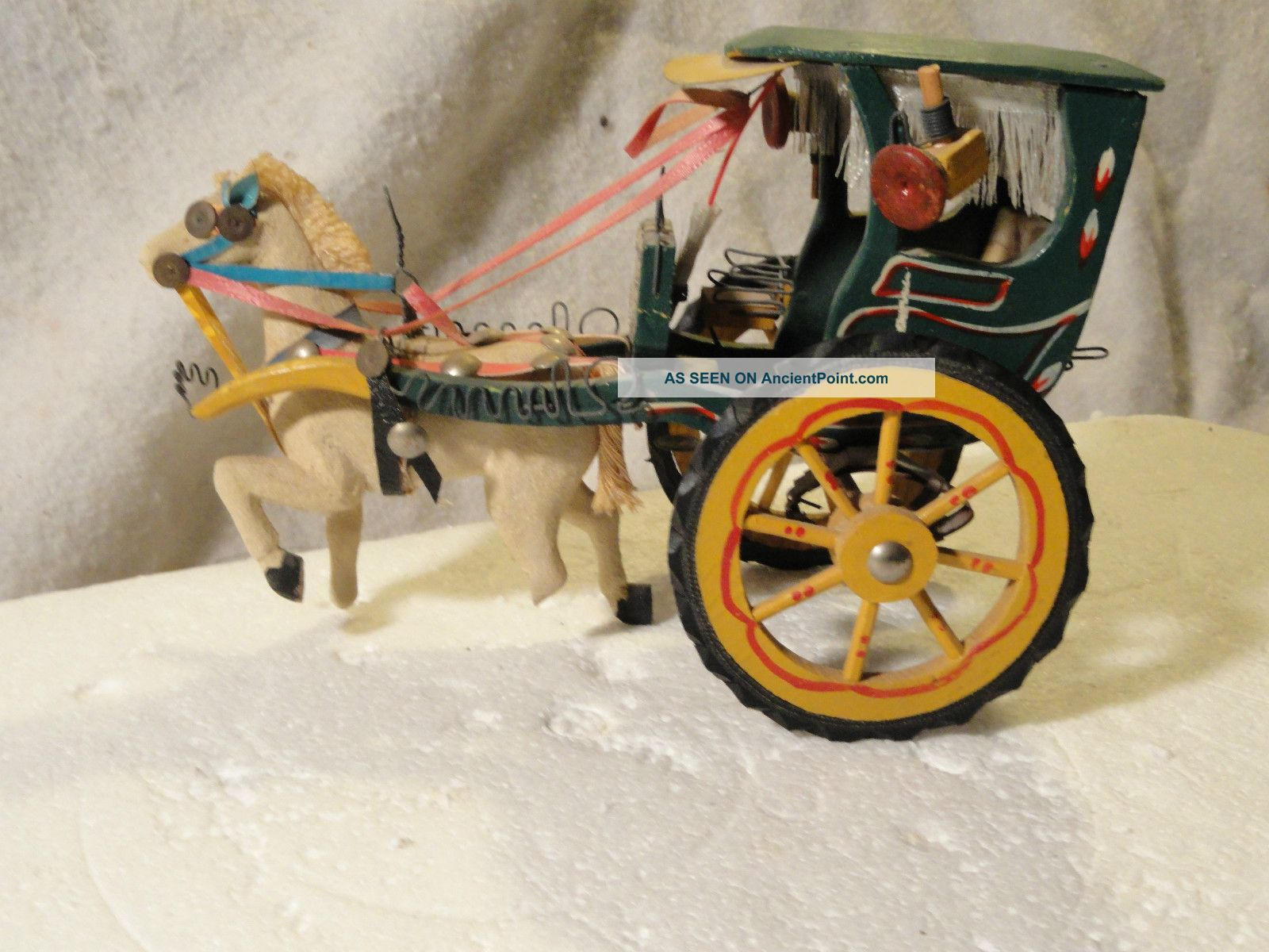 Antique Vintage Horse Drawn Carriage Hand Made Baby Carriages & Buggies photo
