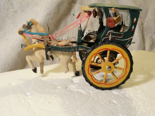 Antique Vintage Horse Drawn Carriage Hand Made photo
