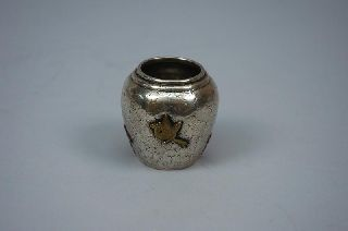 Dominick And Haff American Sterling Silver Mixed Metal Jar Aesthetic 1879 photo