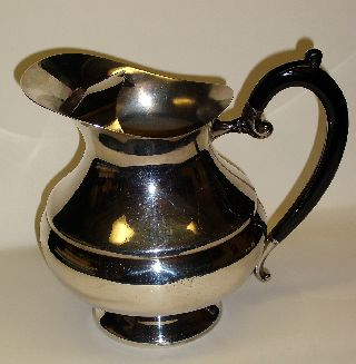 Vtg Baldwin Silverplate Water Pitcher Art Deco Minimalist Modern photo