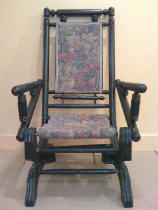 Splendid Antique Chinese Chippendale ' Rocking ' Armchair photo