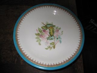 Pretty Old Antique Worcester Comport Footed Plate Painted Flowers photo