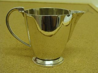 Antique Solid Silver - Britannia Silver - Milk / Cream Jug - 1935 photo