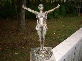 Antique Lamp/statue. . . .  Art Deco. . . . photo