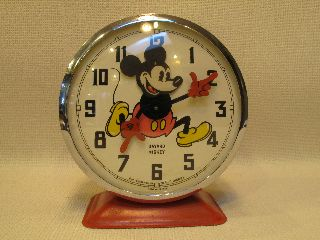 Vintage 1964 Disney Mickey Mouse Bayard French Alarm Clock photo