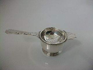 Vintage/antique Art Deco Silver Plated Tea Strainer photo