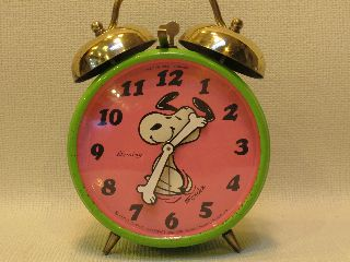Vintage 1970 Snoopy West German Alarm Clock photo