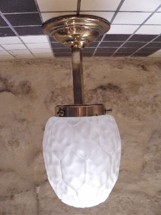 A Classic & Stylish Art Deco Ceiling Lamp/light Circa 1930 ' S photo