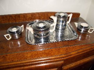 Stunning Art Deco Style Tea & Coffee Set photo