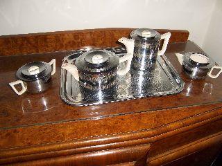 Stunning Art Deco Style Tea & Coffee Set photo