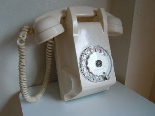 Art Deco Stunning Pink White Bakelite Dunyach&leclert French Telephone photo