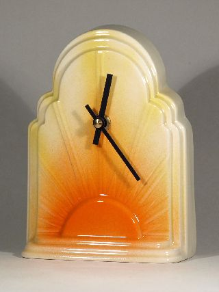Echo Of Deco Art Deco Ceramic Chrysler Building Mantel Clock photo