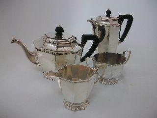 Vintage Silver Plated Art Deco Tea/coffee Set Mappin & Webb Prince ' S Plate photo