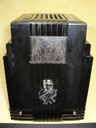 Rare Air King Model 52 Art Deco Plastic Plaskon Tube Radio Nr photo