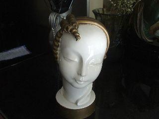 Antique Porcelain Art Deco Ladies Head By Kent Art Ware,  Japan ( photo