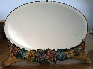 Large Oval Barbola Dressing Mirror photo