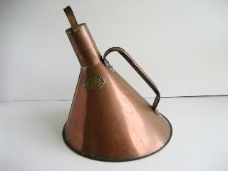 Antique Art Deco Bloods Whistling Copper Kettle C.  1920 ' S photo