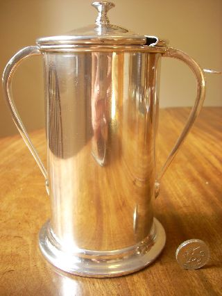 Art Deco Preserve Or Pickle Holder By Angora,  England.  Silver Plated photo