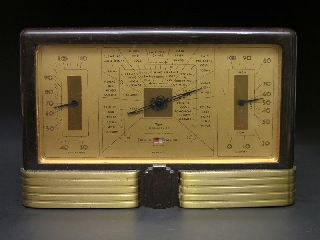 Art Deco Bakelite Taylor Stormoguide Weather Station,  Barometer,  Thermometer photo