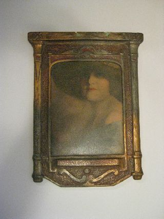Fabulous Hand Colored Art Deco Photogragh - Unique Frame - C.  1930 ' S photo