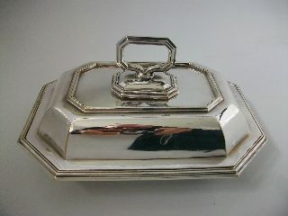 Vintage/antique Art Deco Silver Plated Entree Dish By Mappin & Webb photo