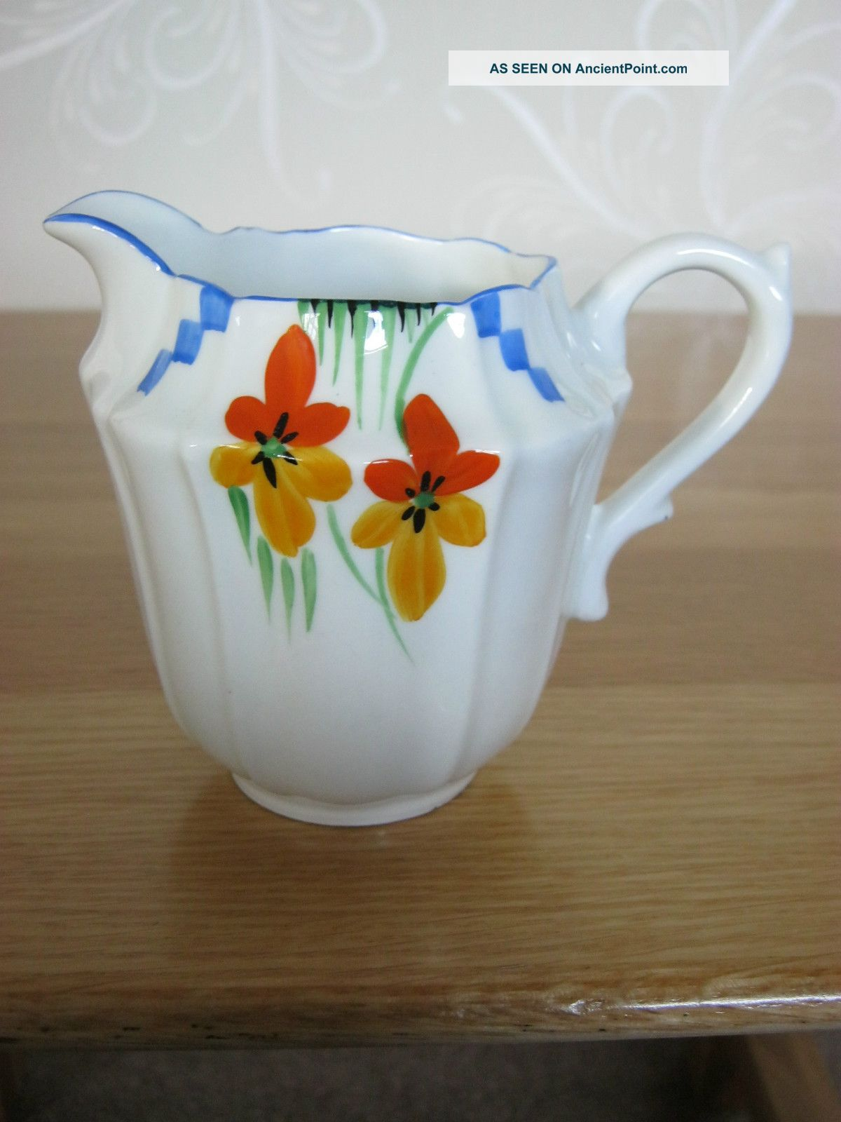 A Handpainted Art Deco Milk Jug,  In Lovely Condition. Art Deco photo