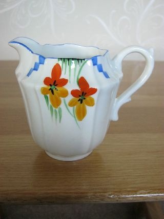 A Handpainted Art Deco Milk Jug,  In Lovely Condition. photo