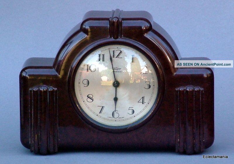Vintage Art Deco Bakelite Elco Electric Clock - Spares Or Repair Art Deco photo