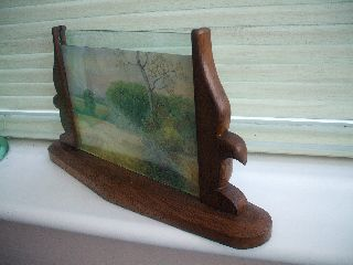Art Deco Wooden Photo Frame With